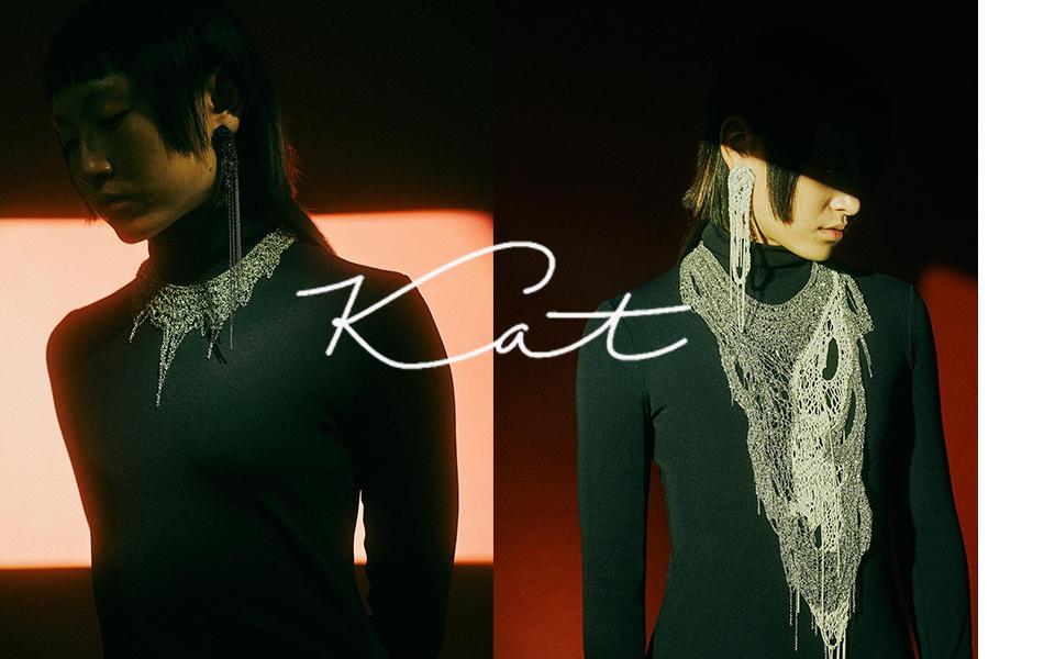 KATbykat.k Iza Colour Drip Mesh Necklace