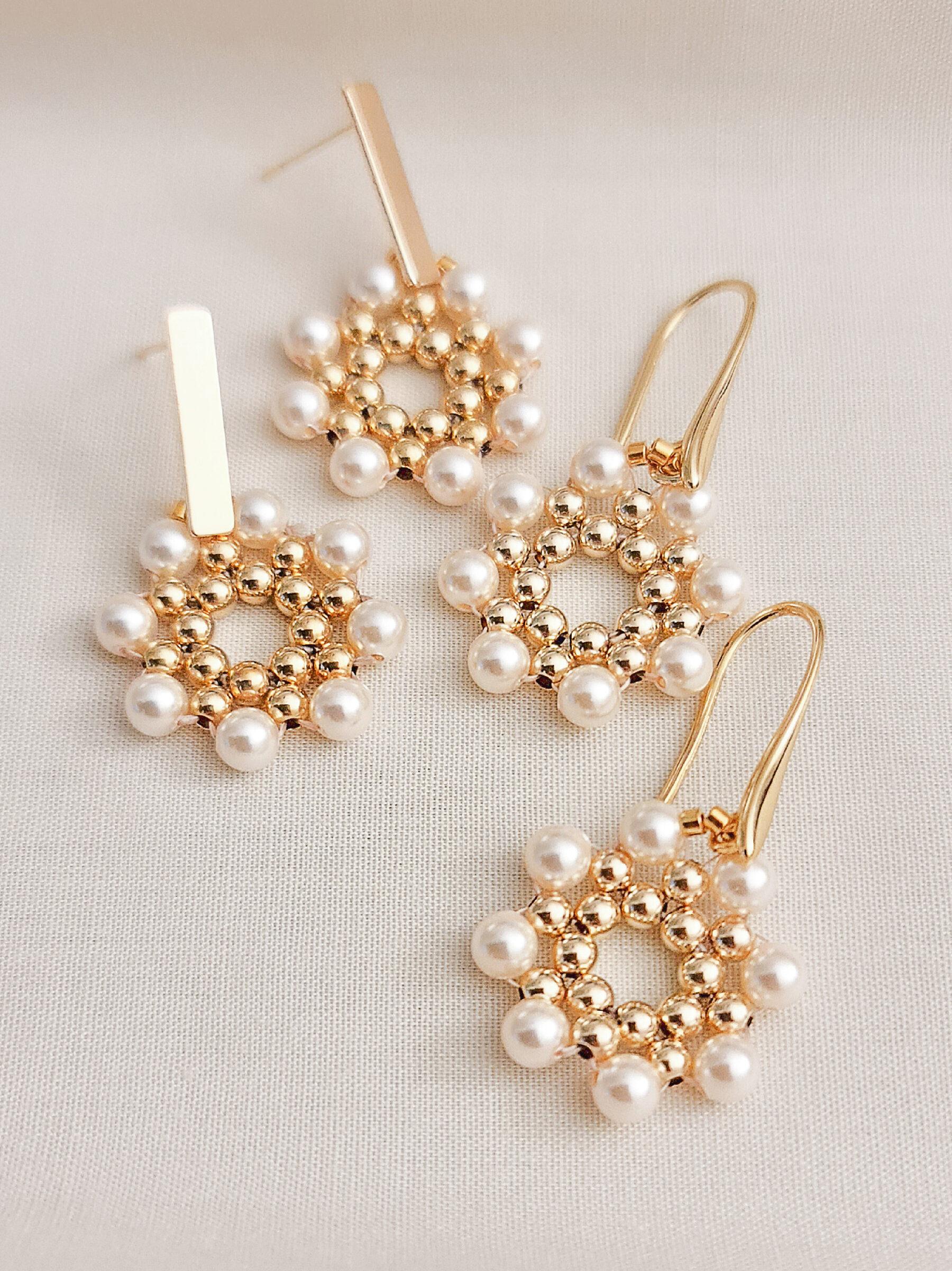 JeannieRichard Printemps Pearl Earrings